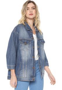 Jaqueta Jeans Carmim Almada Azul