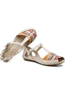 Tamanco Top Franca Shoes Babuche Feminino - Feminino-Bege