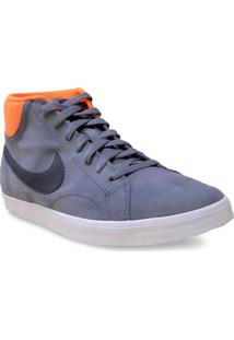 Tenis Masc Nike 555250-008 Eastham Mid Cinza/Laranja