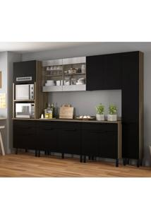 Cozinha Compacta Itamaxi V 11 Pt 6 Gv Branca E Castanho