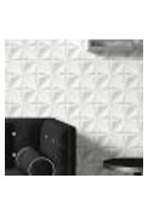 Papel De Parede Adesivo Autocolante Efeito 3D Gesso Branco 15M