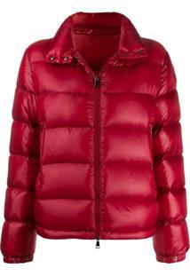 Moncler Short Down Filled Jacket - Vermelho