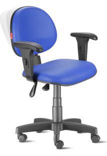 Cadeira Ergonômica Nr17 Executiva Lisa Azul Royal