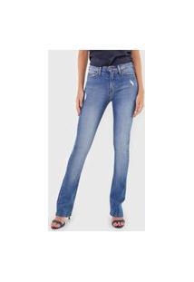 Calça Jeans Calvin Klein Jeans Slim Five Pockets Azul