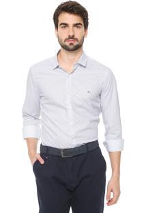 Camisa Aramis Slim Estampada Branca