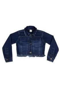 Jaqueta Ml Cropped Confort Jeans Have Fun 6 Azul