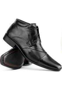 Sapato Social Gofer Couro Cano Médio - Masculino