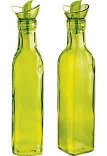 Conjunto De Azeiteiro & Vinagreiro Colors- Verde- 2Peuro Homeware