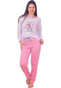 Pijama Inverno Vip Lingerie Unicórnio Rosa