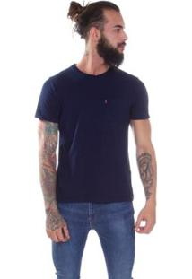 Camiseta Levis Sunset Pocket - Masculino-Azul Escuro