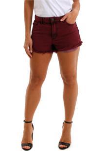 Shorts Jeans Equivoco Queens Vinho