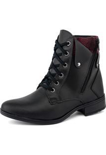 Bota Elegancy Ankle Bootzipers Preto - Kanui