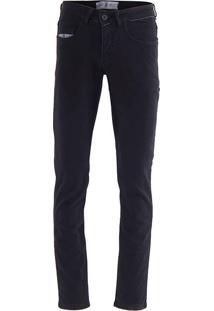 Calça Jeans Reta Masculina Hamy - Preto