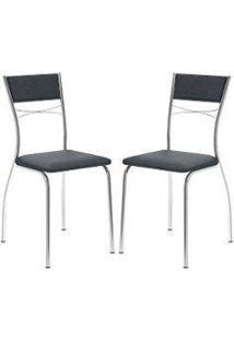 Cadeira 1701 Cromada 02 Unidades Jeans Carraro