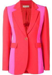 Emilio Pucci Blazer Color Block Slim - Vermelho