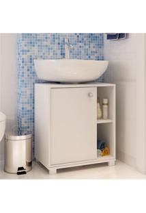 Armário De Banheiro 1 Porta Bbn01 Branco Fosco - Brv Móveis