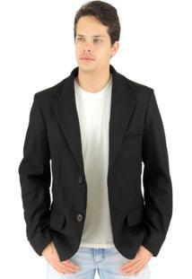 Blazer Masculino Tóquio Em Lã Uruguaia Premium - Masculino-Preto