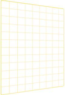 Memory Board Quadro De Fotos Amarelo - 65Cm X 45Cm + 6 Mini Prendedores