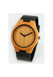 Relógio Feminino Red Deer Madeira Sj1473 - Preto E Marrom