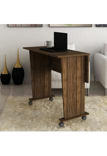 Mesa Escrivaninha Dobrável Tecno Mobili Me4117 Com Rodinhas