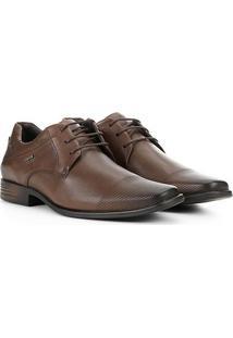 Sapato Social Ferracini Perfuros Masculino - Masculino-Marrom