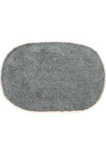 Tapete Para Banheiro Le Oval Cinza 40X60Cm