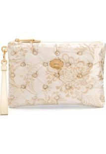 Moschino Clutch De Jacquard Com Padronagem Floral - Branco