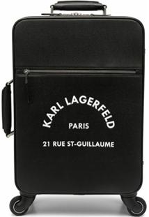 Karl Lagerfeld Mala De Rodinhas Rue St-Guillaume - Preto