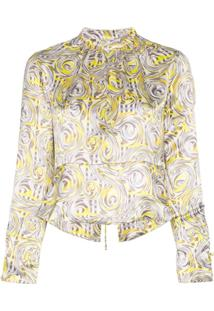 Ganni Blusa Estampada - Amarelo
