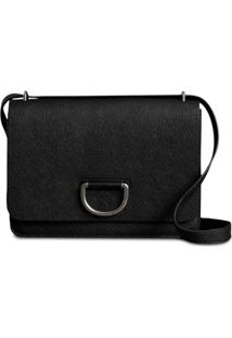 Burberry The Medium Leather D-Ring Bag - Preto