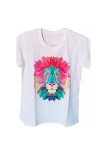 Camiseta Feminina Leão Color