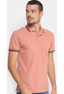 Camisa Polo Colcci Básica Masculina - Masculino-Rosa