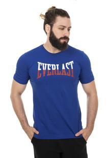 Camiseta Everlast Logo Bicolor Royal