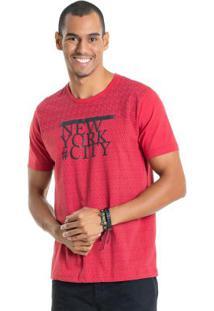 Camisa Com Estampa Em Relevo Vermelho Bgo
