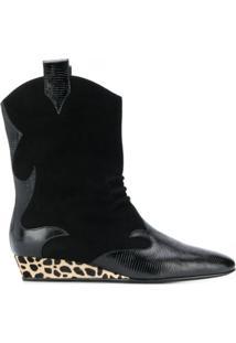 Giuseppe Zanotti Ankle Boot Com Plataforma - Preto