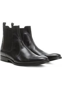 Bota Couro Chelsea Shoestock Bico Redondo Masculina - Masculino