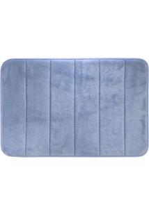 Tapete Para Banheiro Super Soft- Azul- 60X40Cm- Camesa