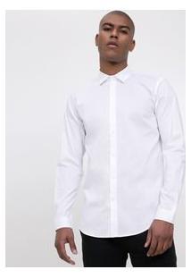 Camisa Social Slim Em Poliamida