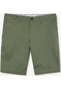 Bermuda Lacoste Slim Fit Masculina - Masculino-Verde Militar