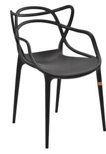 Cadeira Allegra Preta Rivatti - Preto - Dafiti