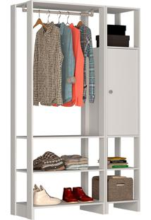 Guarda-Roupa Modulado Closet 101107 - Nova Mobile - Branco