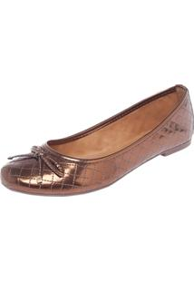 Sapatilha Dafiti Shoes Matelasse Bronze