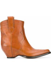 Maison Margiela Ankle Boot Sendra Com Salto 45Mm - Marrom