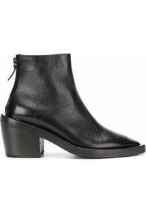 Marsèll Ankle Boot Com Zíper Lateral - Preto