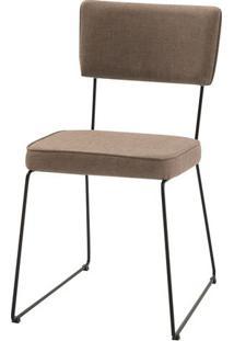 Cadeira Milan Bege Base Preta - 55890 Sun House
