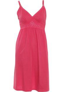 Camisola Amamentação Malha Rmb Lingerie Rosa Pink
