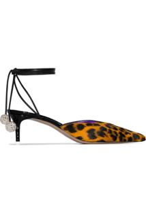 The Attico Scarpin Animal Print - Marrom