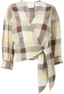 Framed Blusa Madeleine Transpassada - Estampado