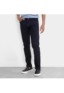 Calça Jeans Slim Zamany Lavagem Escura Masculina - Masculino