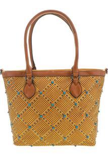 Bolsa Feminina Arara Dourada - Lt8147 Amarelo